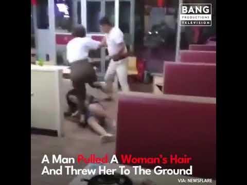 Brutální napadeni ženy v restauraci +18